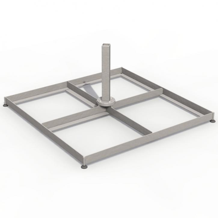 Bodenmontage | Schirmsockel | Multischirm | 100 x 100 cm