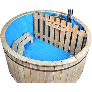 PVC-Folie für Badefass aus Fichtenholz