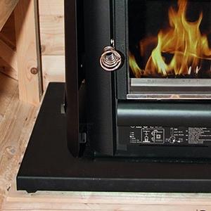 Bodenplatte für Holzofen Harvia M3 für Fasssauna