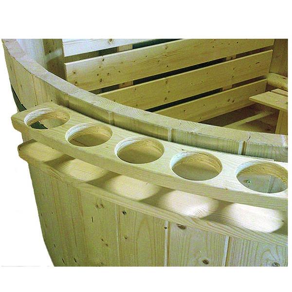 Flaschenhalter für Badefass aus Fichtenholz
