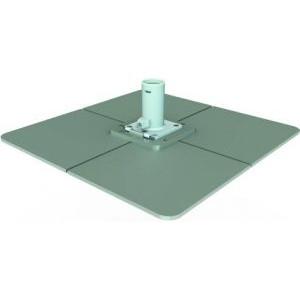 Stahlplattenständer mit unbeschichteten Stahlplatten | BAHAMA Jumbrella