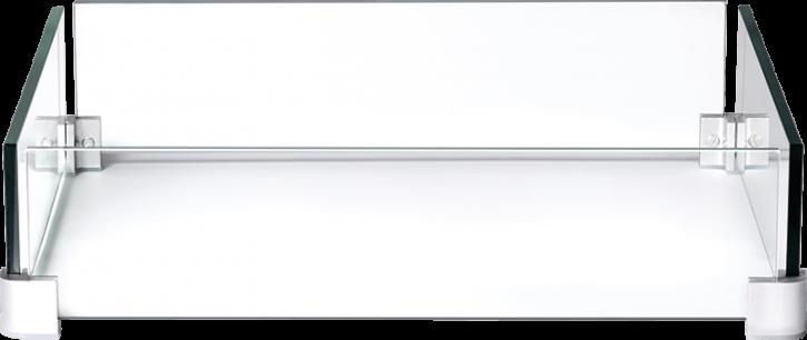Feuertisch Napoleon Hamptons | Windschutzscheiben-Set aus Glas – quadratisch