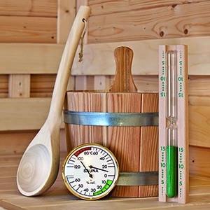 Sauna-Zubehör-Set für Fasssauna