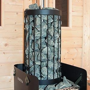 Steinkorb für Holzofen Harvia M3 für Fasssauna