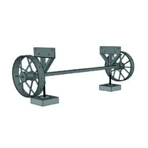 Räder-Set für Zirkuswagen