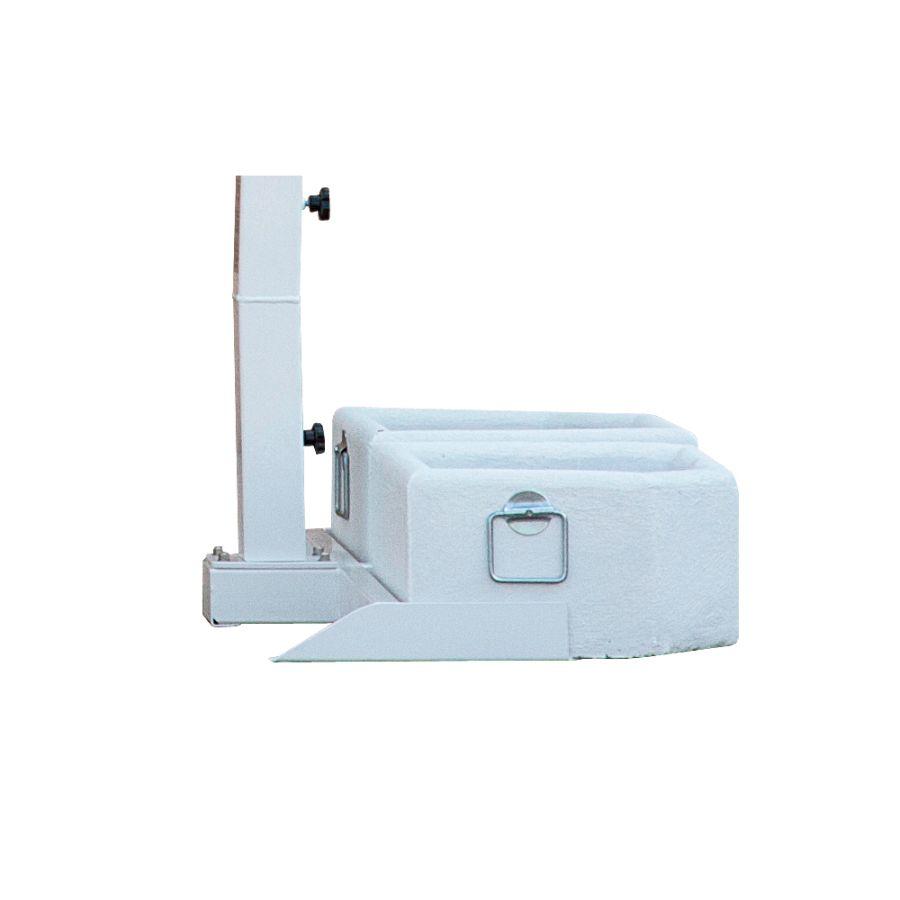 Portofino | Ampelschirm | Set mit Mobilständer (inkl. Gewichtsplatten) oder Bodenbefestigung