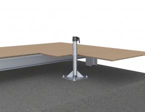 May Ankerplatte zum Aufdübeln mit Ankerhülsen-Oberteil